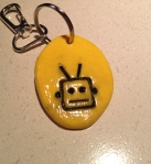 The finished Robot KeyChain.